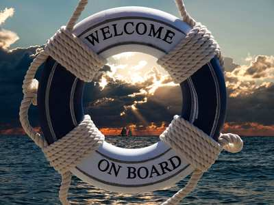 Welcome On Board life buoy